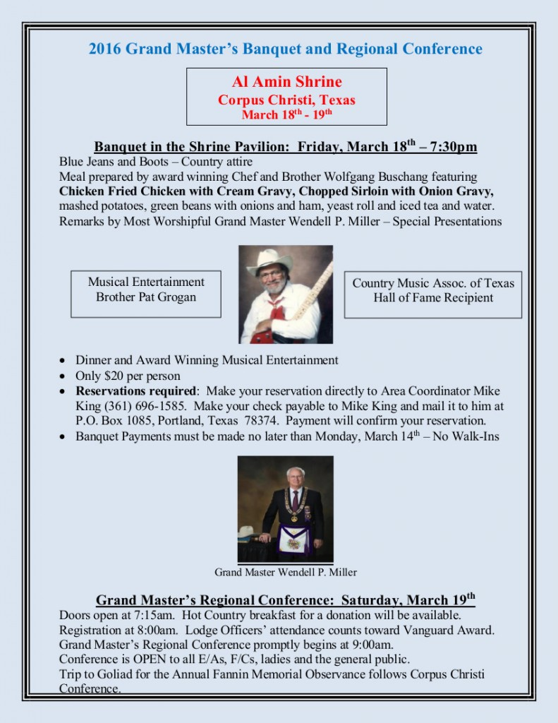 2016 Grand MasterBanquet and Conference Flyer-1-25-2016